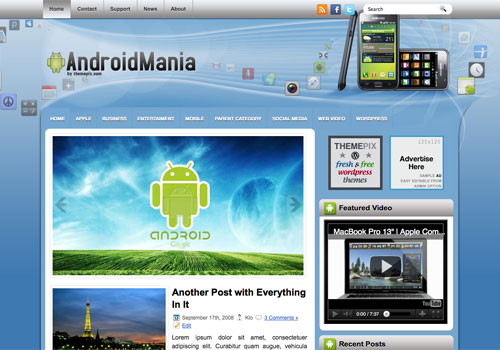 AndroidMania free WordPress theme