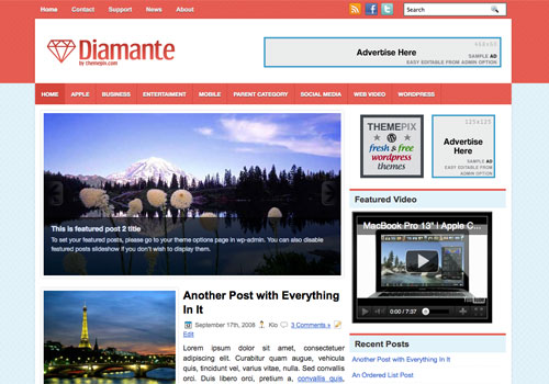 Wordpress Themes Diamante