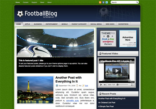 FootballBlog Screenshot