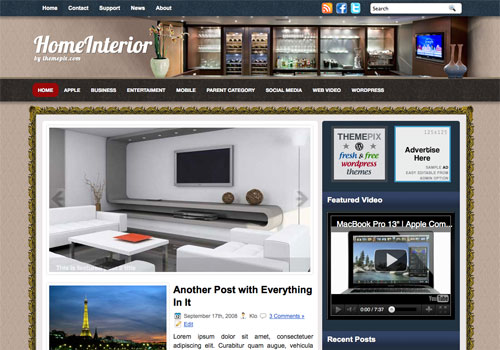 FREE HomeInterior Wordpress Theme