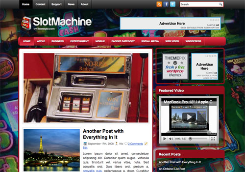 SlotMachine Free Wordrpess Theme