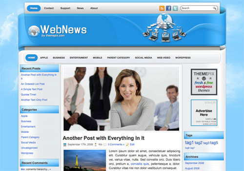 WebNews WordPress theme