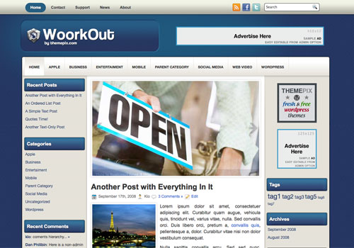 WoorkOut free WordPress theme